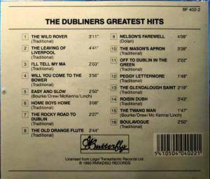 The Dubliners: Greatest Hits (CD) - Bild 2