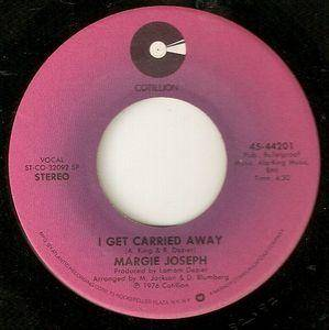 Cover - Margie Joseph: I Get Carried Away