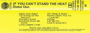 Status Quo: If You Can't Stand The Heat... (Tape) - Bild 3
