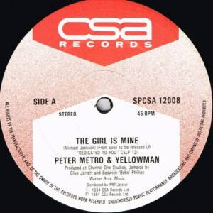 Yellowman & Peter Metro: Bad Boy / The Girl Is Mine - Cover