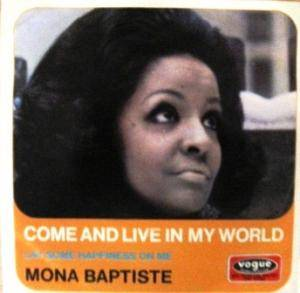 Cover - Mona Baptiste: Come And Live In My World