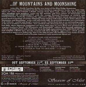 The Sign Of The Southern Cross: ...Of Mountains And Moonshine (Promo-CD) - Bild 2