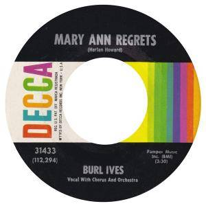 Cover - Burl Ives: Mary Ann Regrets
