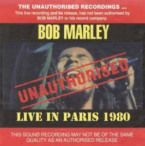 Cover - Bob Marley: Live In Paris 1980