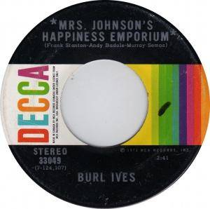 Cover - Burl Ives: Mrs. Johnson's Happiness Emporium