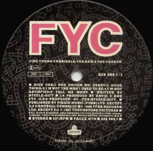Fine Young Cannibals: The Raw & The Cooked (LP) - Bild 3