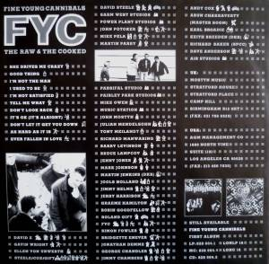 Fine Young Cannibals: The Raw & The Cooked (LP) - Bild 5