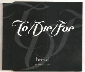Cover - To/Die/For: Farewell