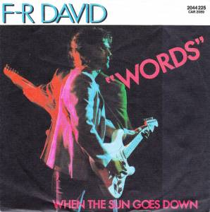 Cover - F.R. David: Words