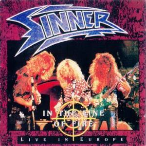 Cover - Sinner: In The Line Of Fire - Live In Europe