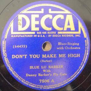 Cover - Blue Lu Barker: Don't You Make Me High