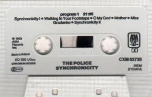 The Police: Synchronicity (Tape) - Bild 3