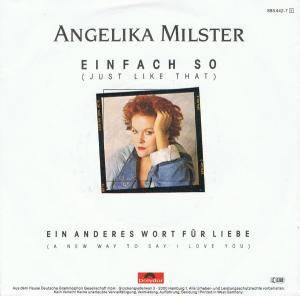 Cover - Angelika Milster: Einfach So