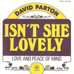 Cover - David Parton: Isn't She Lovely