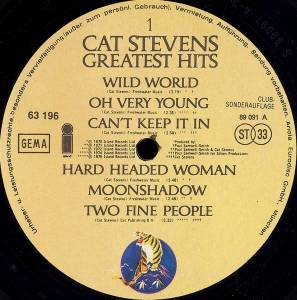 Cat Stevens: Greatest Hits (LP) - Bild 3