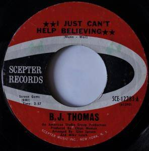 Cover - B.J. Thomas: I Just Can't Help Believing