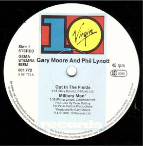 "Gary Moore & Phil Lynott: Out In The Fields (12"") - Bild 3"