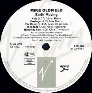 Mike Oldfield: Earth Moving (LP) - Bild 3