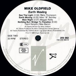 Mike Oldfield: Earth Moving (LP) - Bild 4