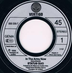"Status Quo: In The Army Now (7"") - Bild 3"