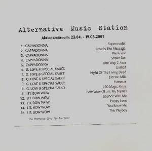 Cover - Lil' Bow Wow: Alternative Music Station - Aktionszeitraum: 23.04. - 19.05.2001