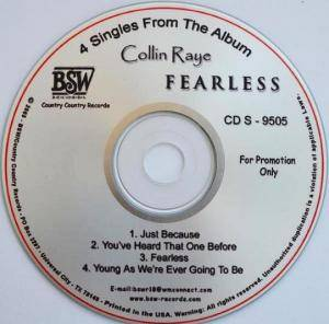 Cover - Collin Raye: 4 Singles From The Album Fearless