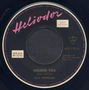 Cover - Ray Peterson: Missing You