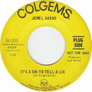 Cover - Jewel Akens: It's A Sin To Tell A Lie