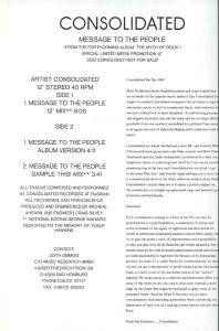 Cover - Consolidated: Message To The People