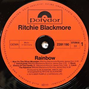 Ritchie Blackmore's Rainbow: Ritchie Blackmore's Rainbow (LP) - Bild 6