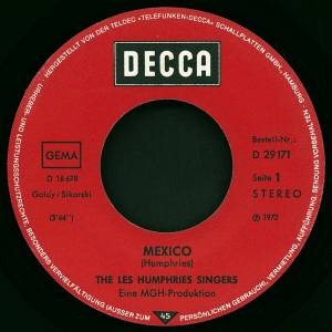 "The Les Humphries Singers: Mexico (7"") - Bild 3"