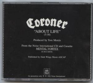 Cover - Coroner: About Life