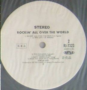 Status Quo: Rockin' All Over The World (Promo-LP) - Bild 2