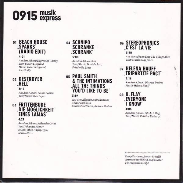 Musikexpress 0915 Der Soundtrack Zum Heft - CD, 2015, Heftbeilage ...