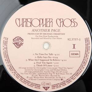 Christopher Cross: Another Page (LP) - Bild 5