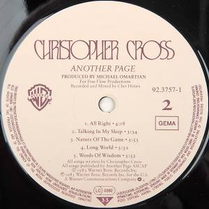 Christopher Cross: Another Page (LP) - Bild 6