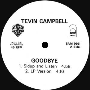 Cover - Tevin Campbell: Goodbye