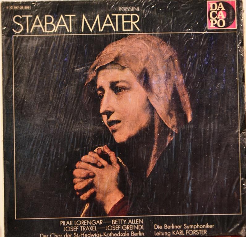 Stabat Mater   LP (1960) von Gioachino Rossini