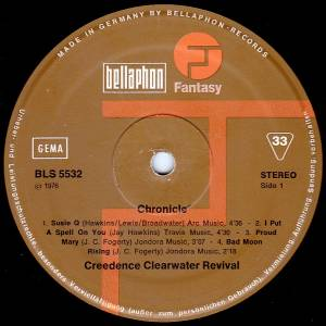 Creedence Clearwater Revival: Chronicle - The 20 Greatest Hits (2-LP) - Bild 6