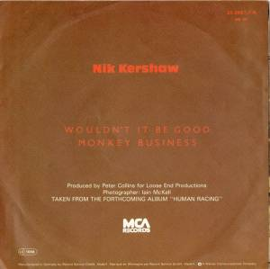 "Nik Kershaw: Wouldn't It Be Good (7"") - Bild 2"