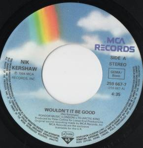 "Nik Kershaw: Wouldn't It Be Good (7"") - Bild 3"