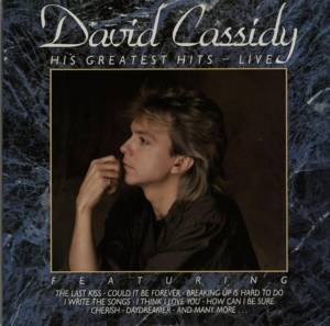 David Cassidy: His Greatest Hits - Live - Cover