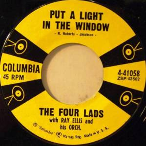 Cover - Four Lads, The: Put A Light In The Window