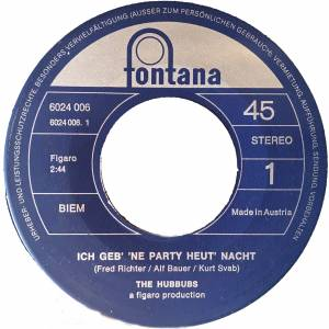 Cover - Hubbubs, The: Ich Geb' Ne Party Heut' Nacht