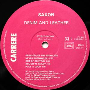 Saxon: Denim And Leather (LP) - Bild 3