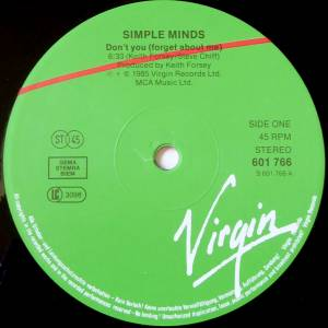 "Simple Minds: Don't You (Forget About Me) (12"") - Bild 3"