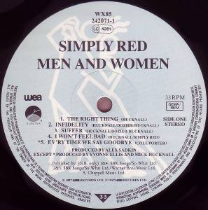 Simply Red: Men And Women (LP) - Bild 5