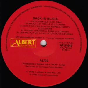 AC/DC: Back In Black (LP) - Bild 2