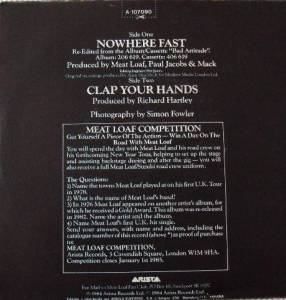 "Meat Loaf: Nowhere Fast (7"") - Bild 2"