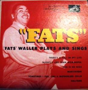 "Cover - Fats Waller: ""Fats"" Waller Plays And Sings (EP)"